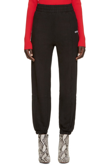 Vetements - Black Biker Fitted Lounge Pants