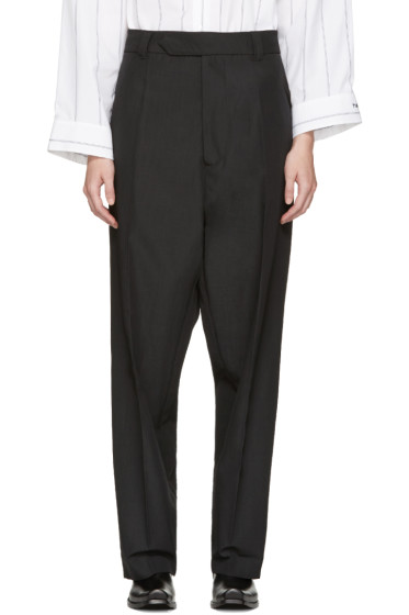 Vetements - Black Baggy Suit Trousers