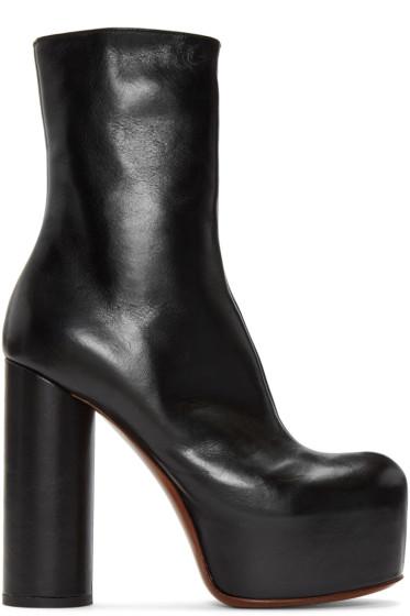 Vetements - Black Leather Platform Boots