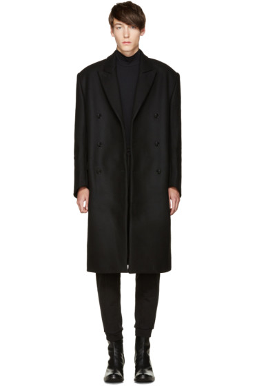 Vetements - Black Oversized Double-Breasted Coat