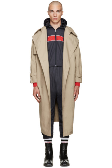 Vetements - Beige Oversized Trench Coat