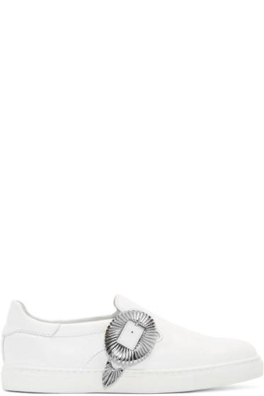 Toga Virilis - White Western Slip-On Sneakers