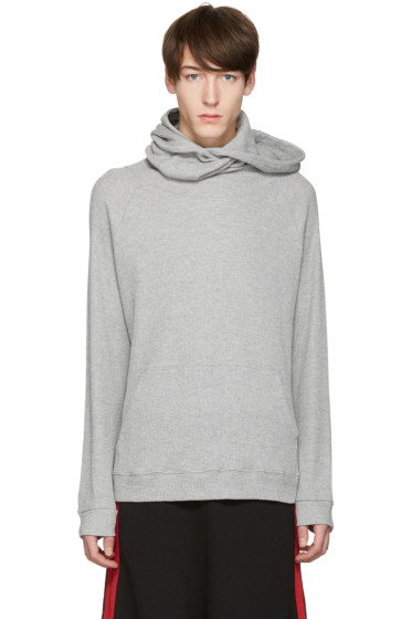 99% IS - Grey Super Long Neck Hoodie