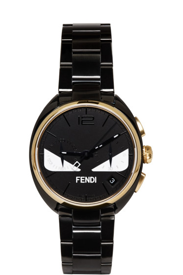 Fendi - Black & Gold Momento Bugs Watch