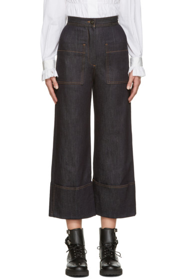 Fendi - Navy Wide-Leg Jeans