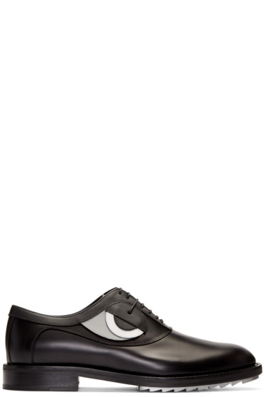 Fendi - Black Eye Appliqué Oxfords