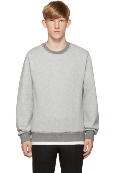 Wooyoungmi - Grey Blanket Stitch Pullover