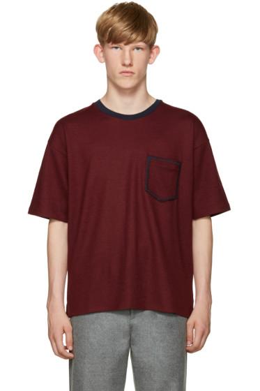 Wooyoungmi - Burgundy Wool T-Shirt