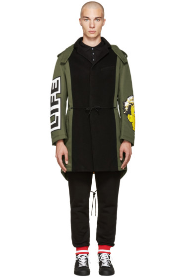 Moschino - Green Patchwork Coat
