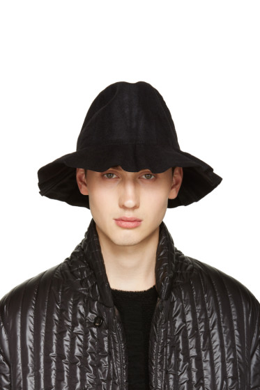 Issey Miyake Men - Black Pleated Bucket Hat