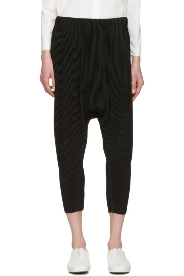 Homme Plissé Issey Miyake - Black Pleated Sarouel Trousers