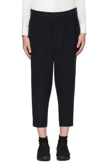 Y's - Navy Wool Trousers