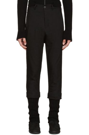 Isabel Benenato - Black Layered Trousers