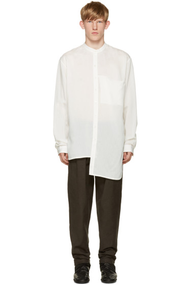 Isabel Benenato - White Collarless Shirt