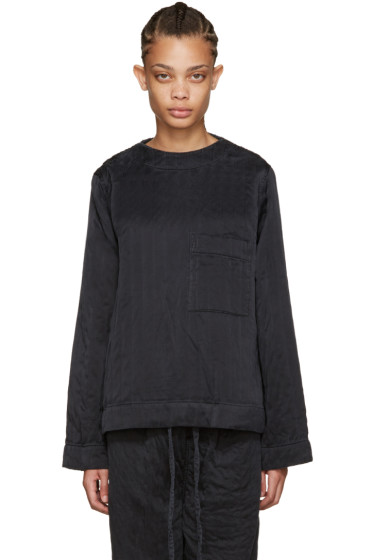 Craig Green - Black Silk Ribbed Top