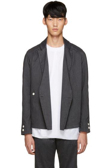 Sunnei - Grey Flannel Kimono Blazer