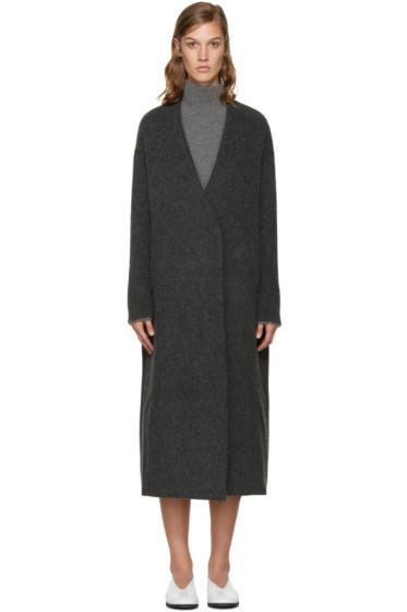 Enfold - Grey Wool Gown Coat