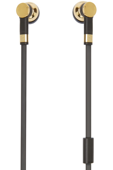 Master & Dynamic - Gold & Black ME05 Earphones