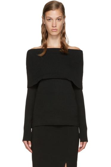 Totême - Black Jaca Off-the-Shoulder Sweater