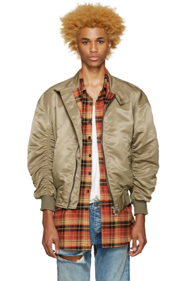 Fear of God - SSENSE Exclusive Khaki The Harrington Bomber Jacket