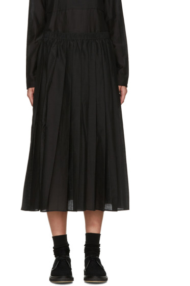 Sara Lanzi - Black Pleated Muslin Skirt