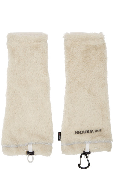 and Wander - Off-White Fleece Arm Warmers