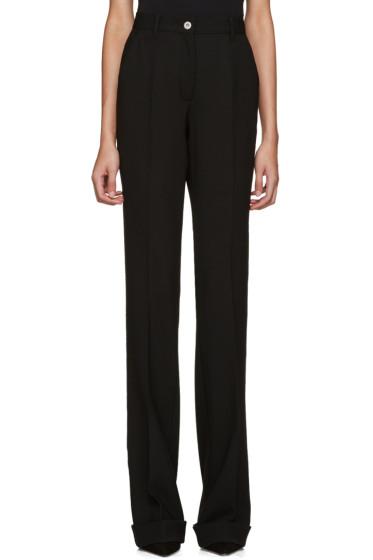 Miu Miu - Black Wool Flared Trousers