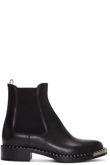 Miu Miu - Black Leather Chelsea Boots