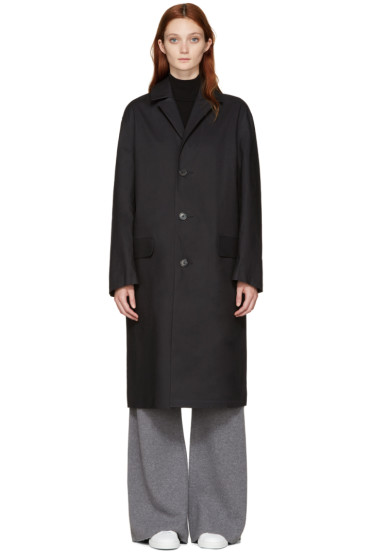 Mackintosh - Black Bal Collar Coat