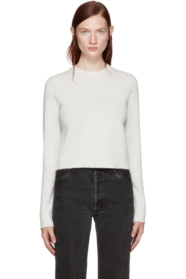 Wendelborn - Reversible Ivory Two-Tone Sweater