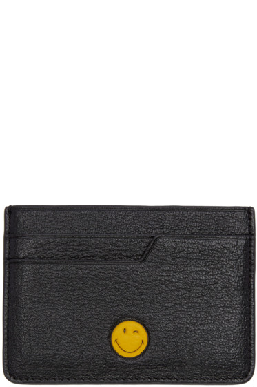 Anya Hindmarch - Black Wink Smiley Card Holder