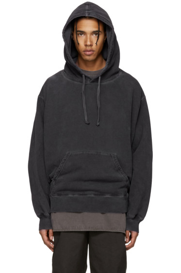 YEEZY - Grey Relaxed-Fit Hoodie