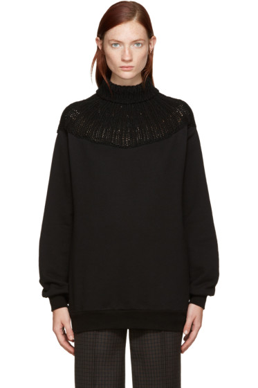 Bless - Black Throatwarmer Turtleneck