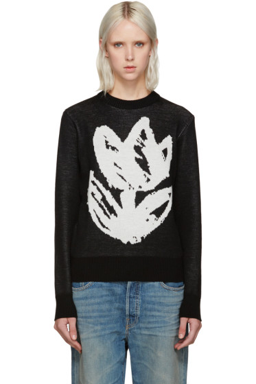 Writtenby - Black Tulip Knit Sweater