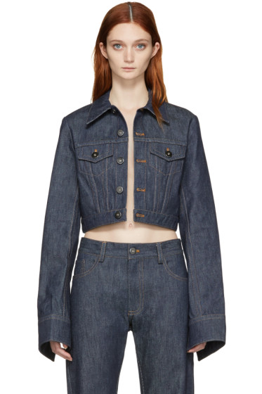 Matthew Adams Dolan - Indigo Shrunken Denim Jacket