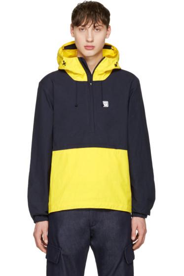 Noah NYC - Navy Hooded Popover Jacket