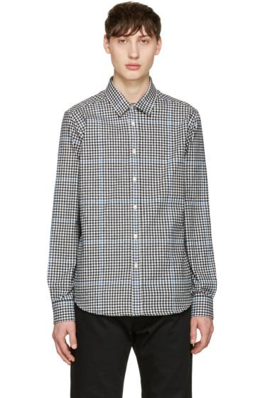 Noah NYC - Black Plaid Pocketed Shirt