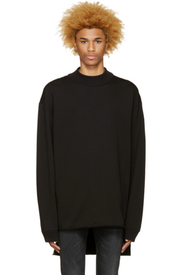 Diesel - Black Sweat 2-Ed Pullover