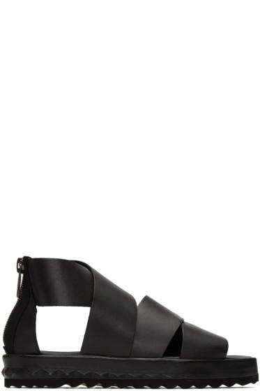 Diesel - Black D-Studz Cross Sandals