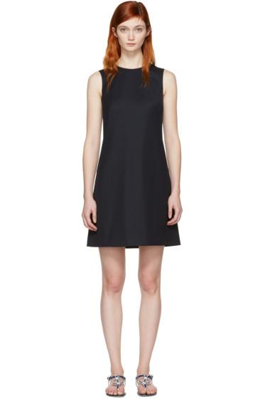 Dolce & Gabbana - Navy Wool Shift Dress