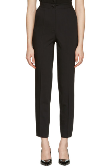 Dolce & Gabbana - Black Crepe Wool Trousers