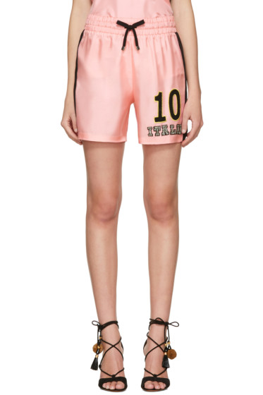 Dolce & Gabbana - Pink Embroidered Pyjama Shorts