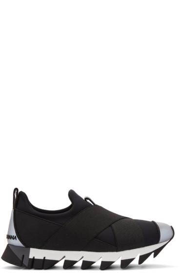 Dolce & Gabbana - Black Criss-Cross Sneakers