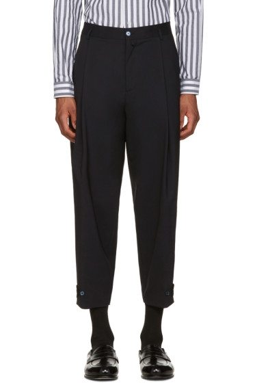 Dolce & Gabbana - Navy Pleated Trousers