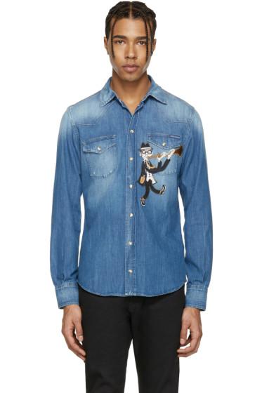 Dolce & Gabbana - Blue Denim Musician Shirt