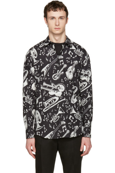 Dolce & Gabbana - Black Music Instruments Shirt