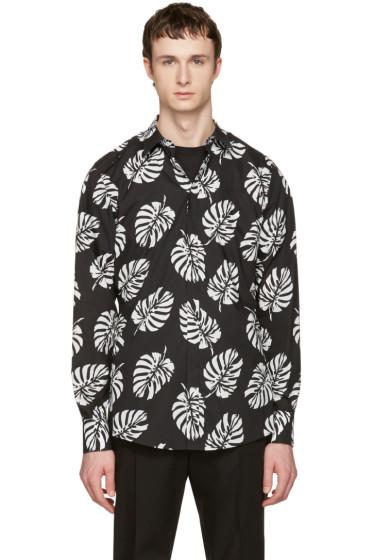 Dolce & Gabbana - Black Leaf Shirt