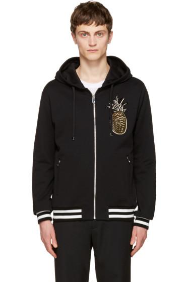 Dolce & Gabbana - Black Pineapple Zip Hoodie