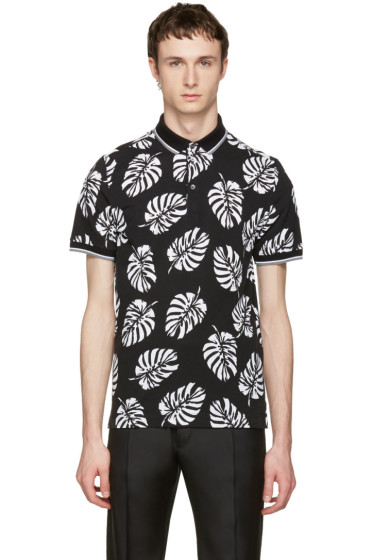 Dolce & Gabbana - Black Leaf Polo