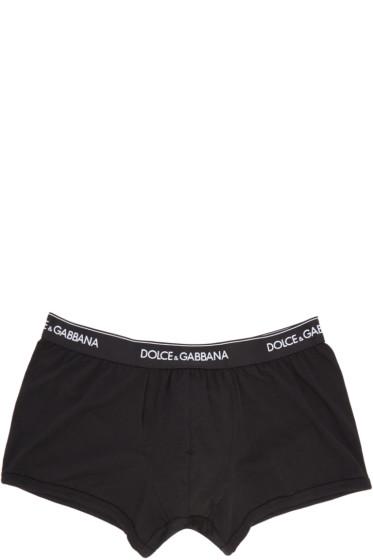 Dolce & Gabbana - Two-Pack Black Boxer Briefs